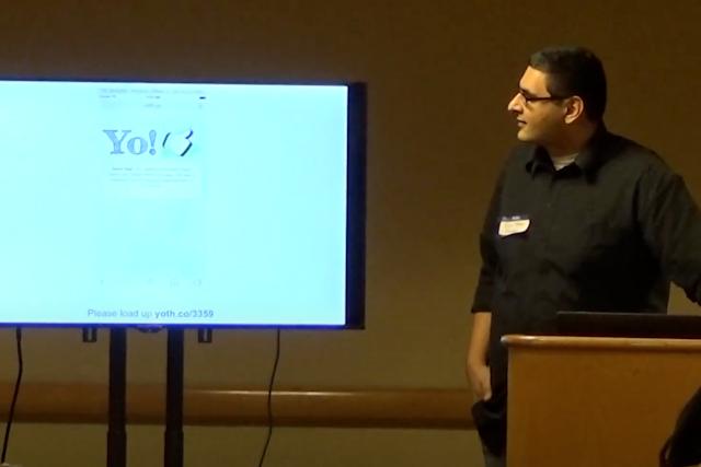 Screenshot from video presentation